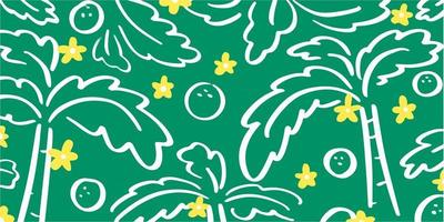 Random And Abstract Floral Doodle Pattern vector