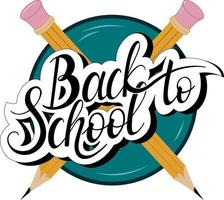 Back to school vector hand lettering. Design for shirt, decorating postcards, envelopes, planners, posters, flyers, social media, web.