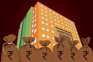 Los hospitales y hogares de ancianos de Covid son solo para personas ricas. vector
