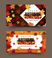 maple leaf, autumn vector background
