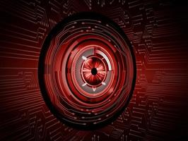 eye cyber circuit future technology concept background vector