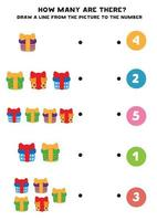 Educational worksheet for preschool kids vector