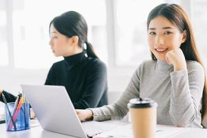 Asian businesswomen in the office photo