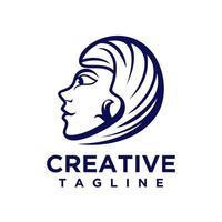 Face logo design vector