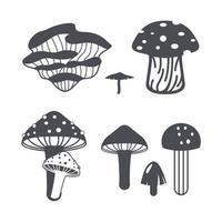 Mushroom set design vector