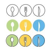 restaurant icon   food  cafe logo template vector