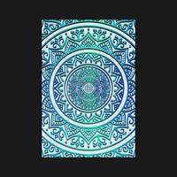 Luxury mandala background with blue arabesque Free Vector