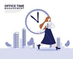 Time management illustration concept vector