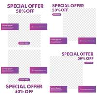 promotion post design. promotion banner template. ready use design template. vector