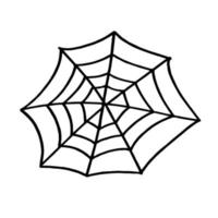 spider Web for Halloween. design on Halloween vector