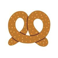 Pretzel on a white background. Vector illustration in doodle style