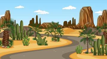 Desert day time scene vector