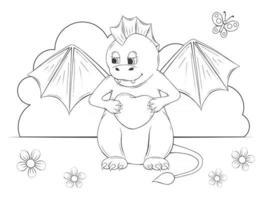Cute Dino Baby vector