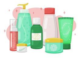 Cosmetics Cream Gel and Liquids vector