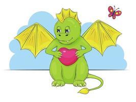 Cartoon Cute Dino Baby vector