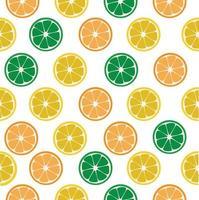 lemon and orange slices Seamless pattern vector