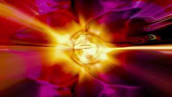fractal licht vormt glans - loop video