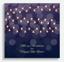 Abstract Beauty Merry Christmas and New Year Background with Mul vector