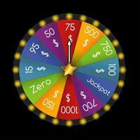 Colorful Casino Wheel vector