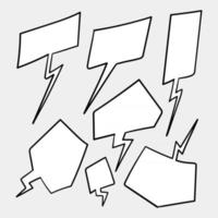 burbujas de discurso blanco en blanco. pensamiento globo habla burbujeante chat comentario nube cómico retro gritando formas de voz. vector