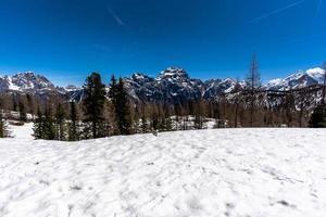 Dolomites of Cortina d'Ampezzo in the upper Valle del Boite Belluno Italy photo