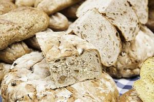bollos de pan artesanales foto