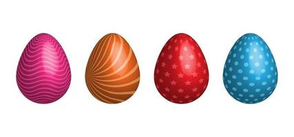 3D realistic Easter egg vector