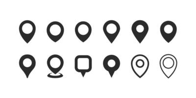 Location pin. Map pin flat icon collection vector
