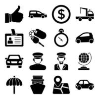Pack of Hotel and Enjoyment Solid Icons vector