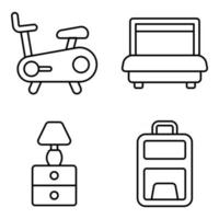 Pack of Hotel and Journey Linear Icons -3 vector