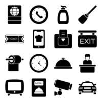 Pack of Holidays Solid Icons vector