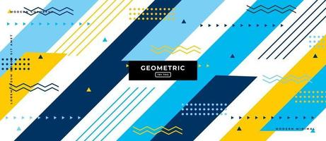 Geometric Color Shapes in White Background. vector