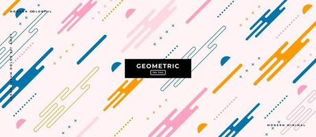 Flat Design Style Geometric Shapes Background. vector