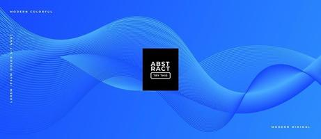 Blue Wavy Geometric Lines Background. vector