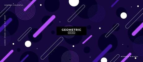 Geometric Purple Shapes Background. vector