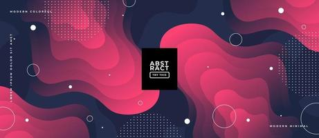Layered Wavy Geometric Shapes Background. vector