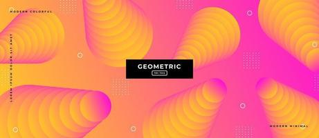 Duotone Style Geometric Shapes Background. vector