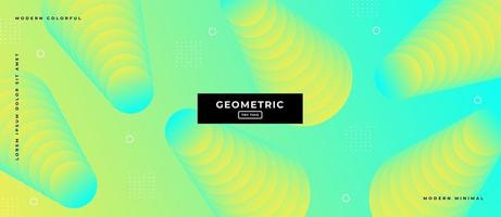 Green Duotone Style Geometric Shapes Background. vector