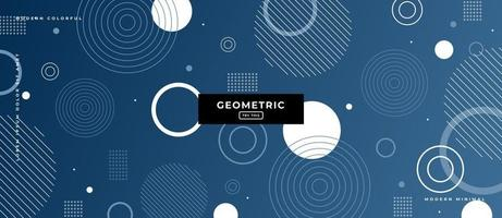Geometric Circle Shapes Memphis Style Background. vector
