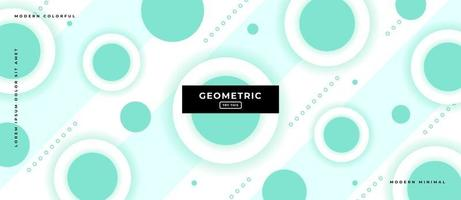 3d Circle Geometric Shapes Background. vector