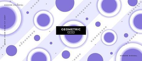 Geometric Purple Circle Shapes Background. vector
