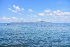 Sea view blue sky background photo