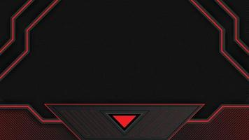 Abstract red and black futuristic gaming background in Livestream  Vector