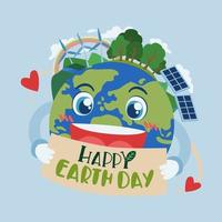 Happy Earth day and World environment day renewable Energy vector
