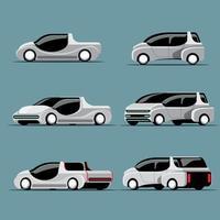 Set of Hitech cars in modern design vector