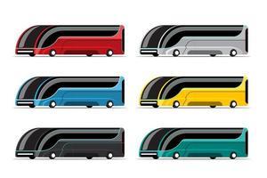 Set  mockup of Hitech bus in modern design vector