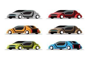 Set  mockup of Hitech luxury car in modern design vector