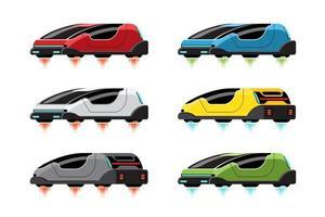 Set  mockup of Hitech sport car in modern design vector