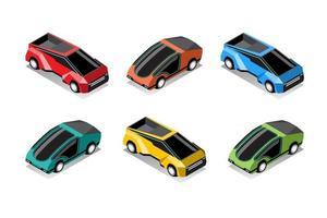 Set  mockup of Hitech car in modern design vector