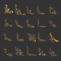 Set of elegant design elements for decorative vector illustration